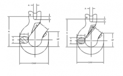 Campbell Quik-Alloy Sling Hooks Diagram