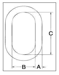 Crosby A-342 Alloy Master Links Diagram